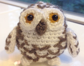 Crochet Amigurumi Owl. Snowy Owl. Plush Crochet Toy. Mini Crochet Animals. Stuffed Owl. Handmade Crochet.