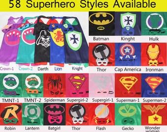 35 Cape Set-Super Hero Cape-Childrens Super Hero Cape-Personalized Cape-Boys&girls Superhero Cape-Super Hero Birthday Gift-Superhero Costume