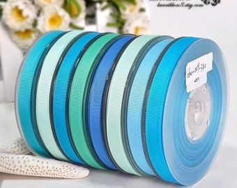 "100 Yards - 3/8"" Grosgrain Ribbons, Light Blue Grosgrain Ribbons, Double Faces, Ribbon Supplier Wholesales"