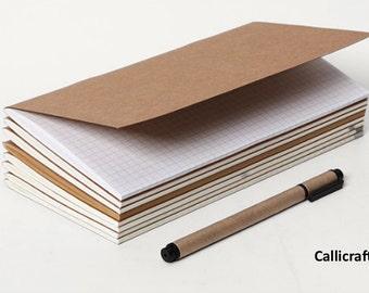 Standard Notebook Refill for Midori Traveler's Notebook, Kraft Notebook, Midori Insert, Paper Refill for Midori Notebook - PJ007