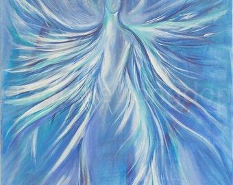 Angel Of Light Signed A4 Fine Art Giclée Print