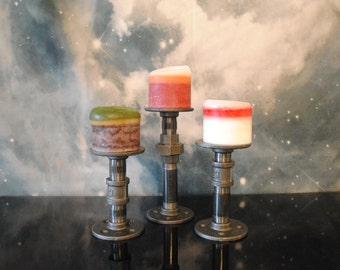 Industrial Pipe Candle Sticks