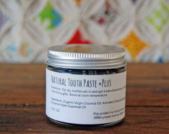 Natural Toothpaste +Plus | Charcoal Toothpaste + Baking Soda