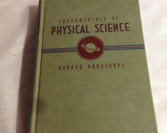 Fundamentals of Physical Science Copyright 1948