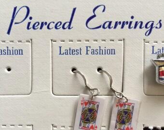 Mini card jack earrings