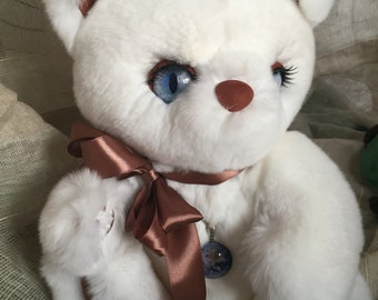 Teddy Cat from real fur. Кошка Тедди игрушка из натурального меха