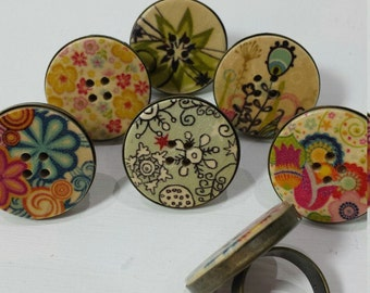 Big button rings