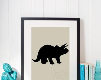 Children's Triceratops Print