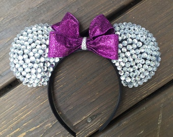 Rhinestone Minnie Mouse Ears  (any color bow)