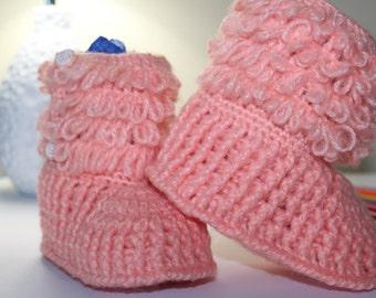 Baby Girl Booties, Crochet Baby Shoes, Crochet Baby Girl Boots, Crochet Baby Girl Slippers, Baby Booties, Baby Shoes