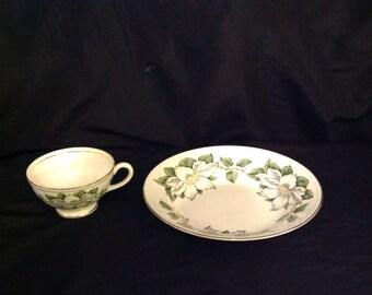 Eggshell Georgian Homer Laughlin USA G55N5 cup and soup bowl