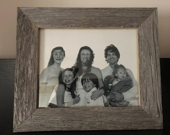 Rustic picture frame- Reclaimed barn board