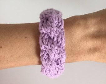 Cable Knit Bangle Bracelet
