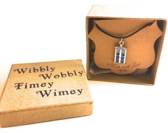 Doctor Who Tardis Necklace with Box