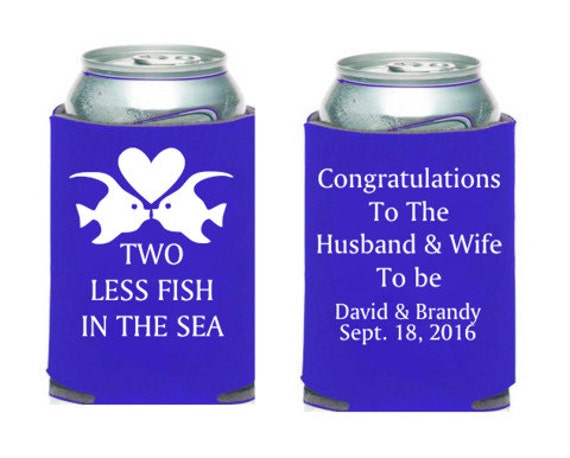 2 less fish in the sea custom coolies by carolinakoozies for Two less fish in the sea