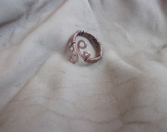 Wire wrapped copper ring,copper ring,wire ring,copper wire ring,ring,jewelry,wire wrapped