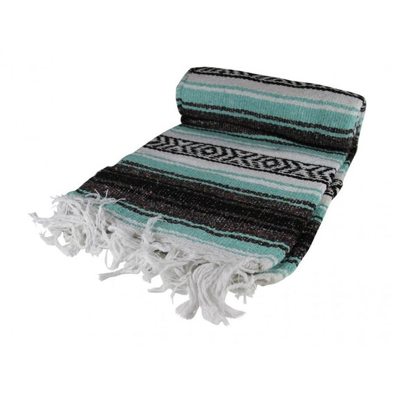 hand woven mexican blanket mexican yoga blanket by aztecblankets. Black Bedroom Furniture Sets. Home Design Ideas