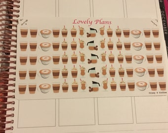 Crazy 4 Coffee Planner Stickers