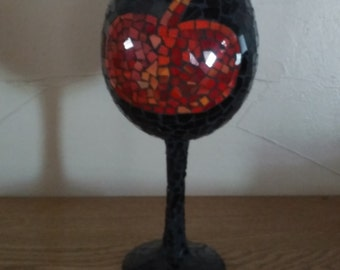 Halloween decorations pumpkin wine glass candle holder