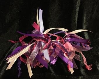 Pair of Pink and Purple Hair Bows, Hair Bows for Girls, Hair Bows for Sale, Hair Bows for Teens, Hair Bows for Cheer, Hair Bows and Ribbons
