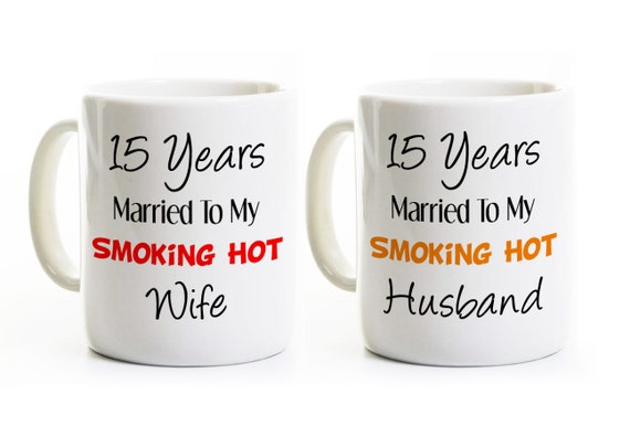 15 Year Wedding Anniversary Gift For Husband: 15th Anniversary Gift Hot Wife And Husband Couples Coffee