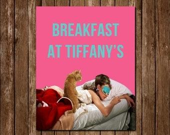 Breakfast At Tiffany's Pink Printable