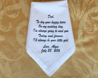 Dad hankerchief with black lettering