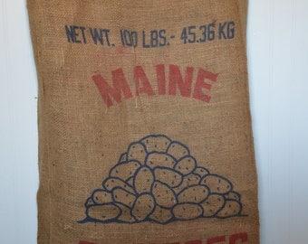 Maine Potatoes Burlap Sack