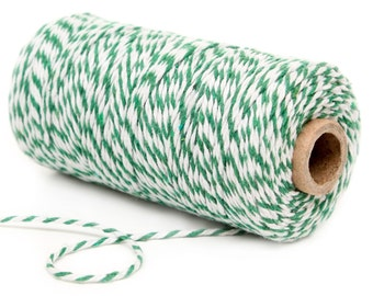 Bakers Twine, 12 Ply Bakers Twine, 100 Yard Spool of Twine, Green Bakers Twine, St. Patrick's Day Party Supplies Green Christmas Party Decor