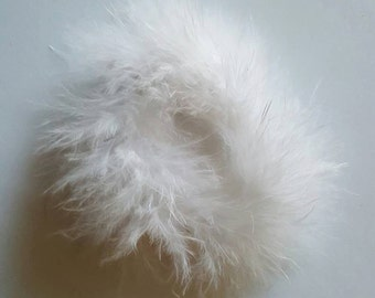 White marabou puff feather hairbows white marabou puff hairbow supplies feather puff