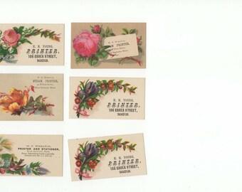 1800's  Steam Printer, Stationery-Chromolitho Ad Cards
