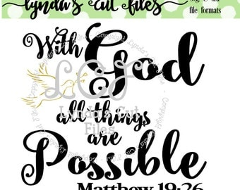 With God all things are Possible SVG/DXF/EPS file