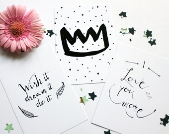 card set, quote cards, inspirational quotes, motivational card, greeting cards, birthday card, birthday crown, love card, encouraging card