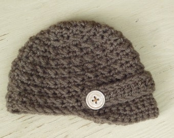 Crocheted Newsboy Cap