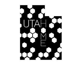 Utah Beehive State Vinyl Sticker
