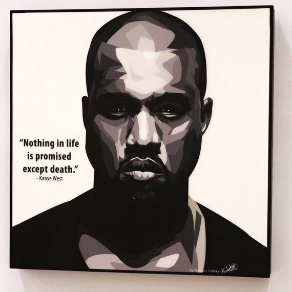 kanye west wall art decals quotes inspirational motivational
