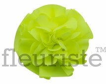 NEON YELLOW Ballerina Twirl Flower, 3 pcs, Chiffon Flower, Wholesale Flower, Fabric Flower, Headband Flower,  DIY Flower, 2.5""