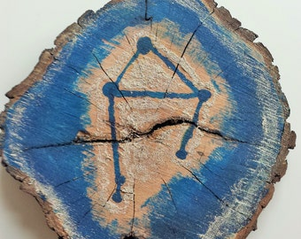 Libra Constellation Plaque