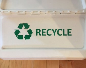 Recycle Sticker or Decal for Recycle Bin, Trashcan, Ikea Container