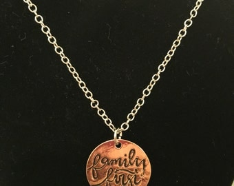 Family first necklace