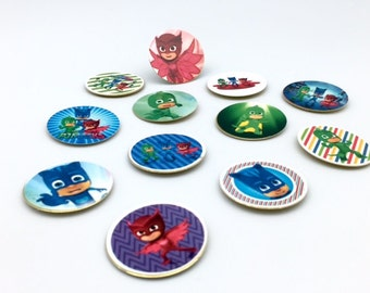 PJ Masks magnets. Party favors. PJ Masks birthday gifts! (12)