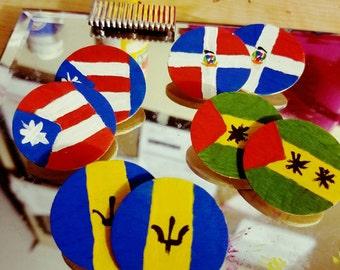 Caribbean Flag Earrings