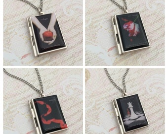 Twilight Miniature Book Locket Necklace, New Moon, Eclipse, Breaking Dawn, Twilight Saga Necklace
