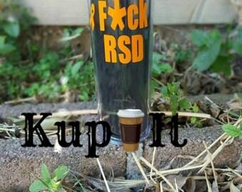 F*ck RSD black 16 ozacrylic skinny tumbler with straw by kup it