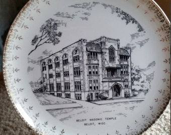 Beloit Masonic Temple Plate
