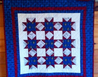 Quilted Red, White, and Blue Patriotic Wall Hanging