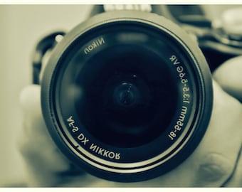 Camera, Photography, Wall Print, Sepia Photo, Wall Art