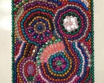 Mosaic, Bead Art, Mardi Gras Bead