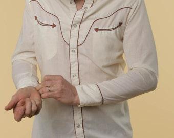 Western Pearl Snap Shirt // Vintage Pearl Snaps // Vintage Western Shirt