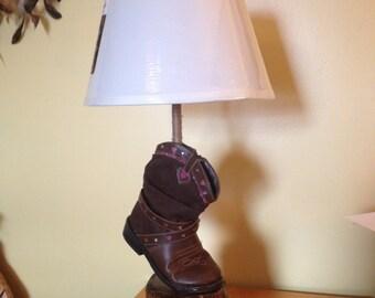 Hand-made Boot Lamp